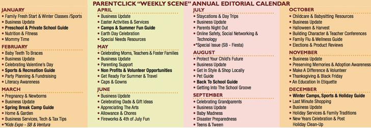 Advertise & Editorial Calendar